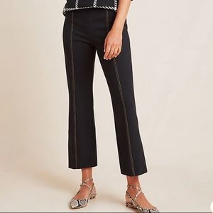 Anthropologie The Essential Cropped Flare Trousers